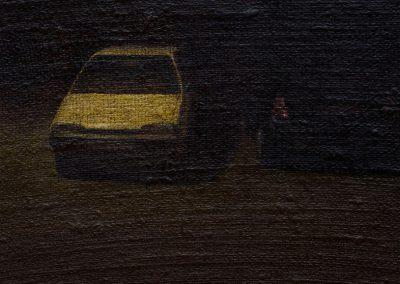 Fejős Miklós: Ott /// 2007 · 17 × 24 cm · olaj, vászon