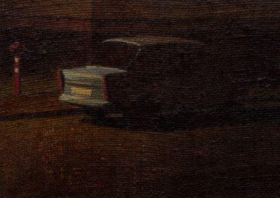 Fejős Miklós: Trabant /// 2007 · 17 × 29 cm · olaj, vászon