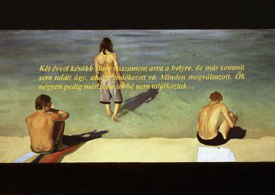 Fejős Miklós: Part /// 1999 · 95 × 145, olaj · vászon