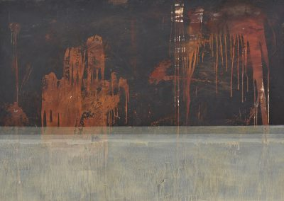 Fejős Miklós: Első hajó /// 2003 · 125 × 185 cm · vegyes technika, farost