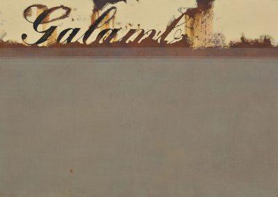 Fejős Miklós: Galamb /// 2003 · 125 × 185 cm · vegyes technika, farost