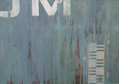Fejős Miklós: Millennium /// 2004 · 125 × 185 cm · vegyes technika, farost