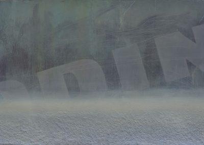Fejős Miklós: Odin /// 2005 · 125 × 185 cm · akri, farost