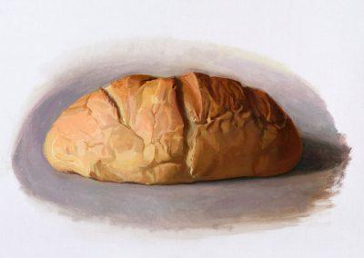 Fejős Miklós: Kenyér III. /// 2014 · 37 × 52 cm · olaj, vászon