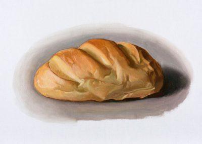 Fejős Miklós: Kenyér VI. /// 2015 · 37 × 52 cm · olaj, vászon