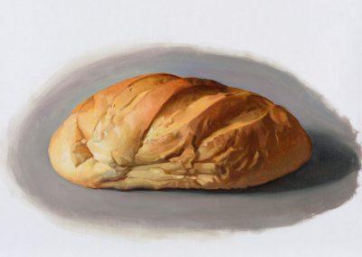 Fejős Miklós: Kenyér X. /// 2015 · 37 × 52 cm · olaj, vászon