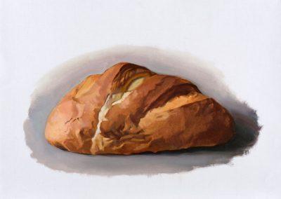 Fejős Miklós: Kenyér XVI. /// 2015 · 37 × 52 cm · olaj, vászon