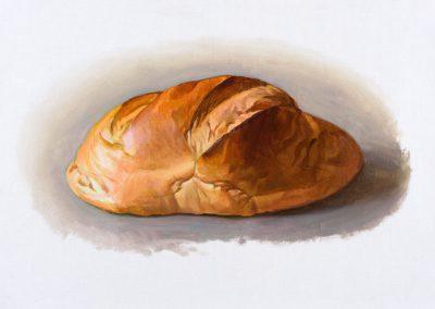 Fejős Miklós: Kenyér XVIII. /// 2016 · 37 × 52 cm · olaj, vászon