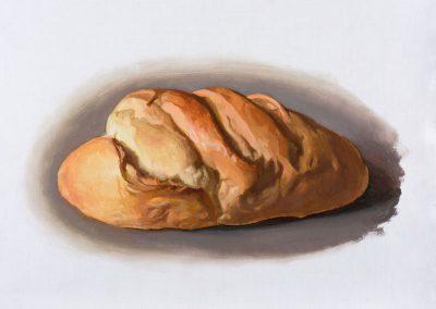 Fejős Miklós: Kenyér XIX. /// 2016 · 37 × 52 cm · olaj, vászon