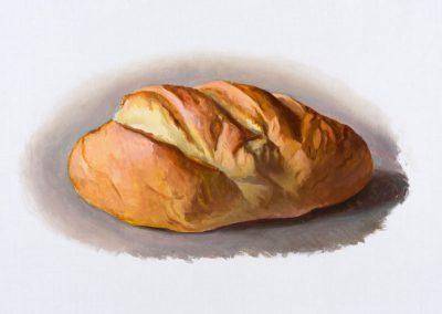 Fejős Miklós: Kenyér XXIII. /// 2016 · 37 × 52 cm · olaj, vászon