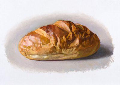 Fejős Miklós: Kenyér XIV. /// 2016 · 37 × 52 cm · olaj, vászon