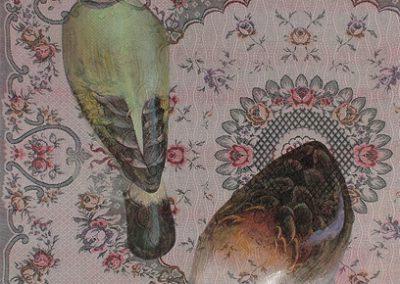 Fejső Miklós: Kacsa /// 2005 · 93 × 135 cm · olaj, gyári szöttes