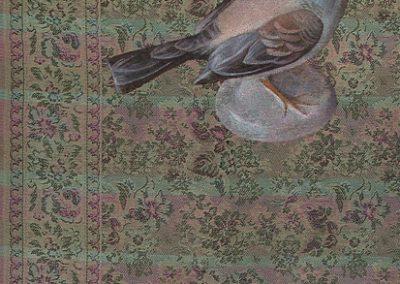 Fejős Miklós: Kismadár /// 2005 · 93 × 135 cm · olaj, gyári szőttes
