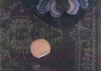 Fejős Miklós: Lámpa /// 2005 · 93 × 135 cm · olaj, gyári szőttes