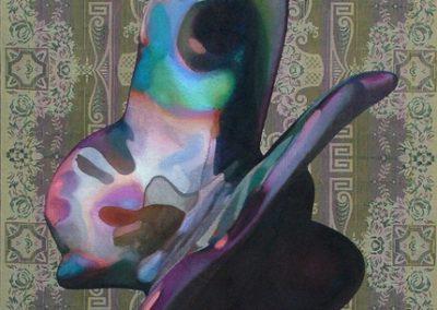 Fejős Miklós: Pillangó /// 2006 · 186 × 135 cm · olaj, gyári szőttes