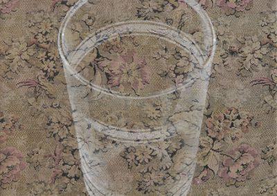 Fejős Miklós: Pohár /// 2008 · 60 × 80 cm · olaj, gyári szőttes