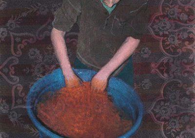 Fejős Miklós: Testvérek I. (Janó) /// 2004 · 93 × 135 cm · olaj, gyári szőttes