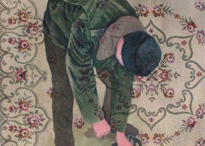 Fejős Miklós: Testvérek II. (Tamás) /// 2004 · 93 × 135 cm · olaj, gyári szőttes