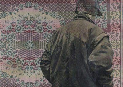 Fejős Miklós: Testvérek III. (Micó) /// 2006 · 93 × 135 cm · olaj, gyári szőttes